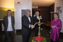 Cuttng the Mirror - Inauguration - Lighting of the lamp.