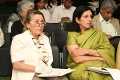 Ms. Trezza (Director IICC) and Mrs. Usha Balakrishna (art historian)