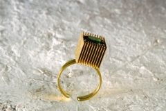 anello,1979.oro-tormalina verde